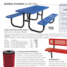 Page from Hertz Furniture's 2011 Catalog